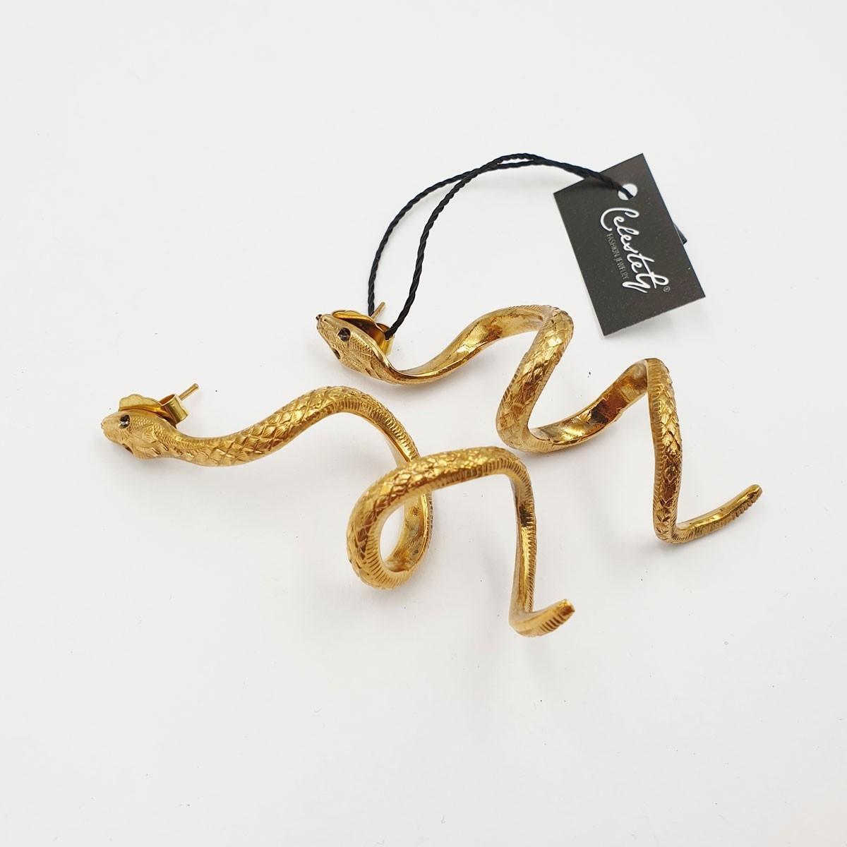 Orecchini Golden Snake lighter - 878