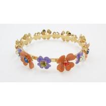 Bracciale fiori multicolor