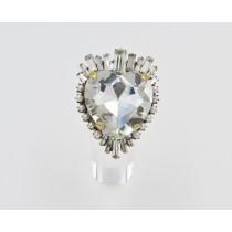 Anello cuore cristalli - 36R